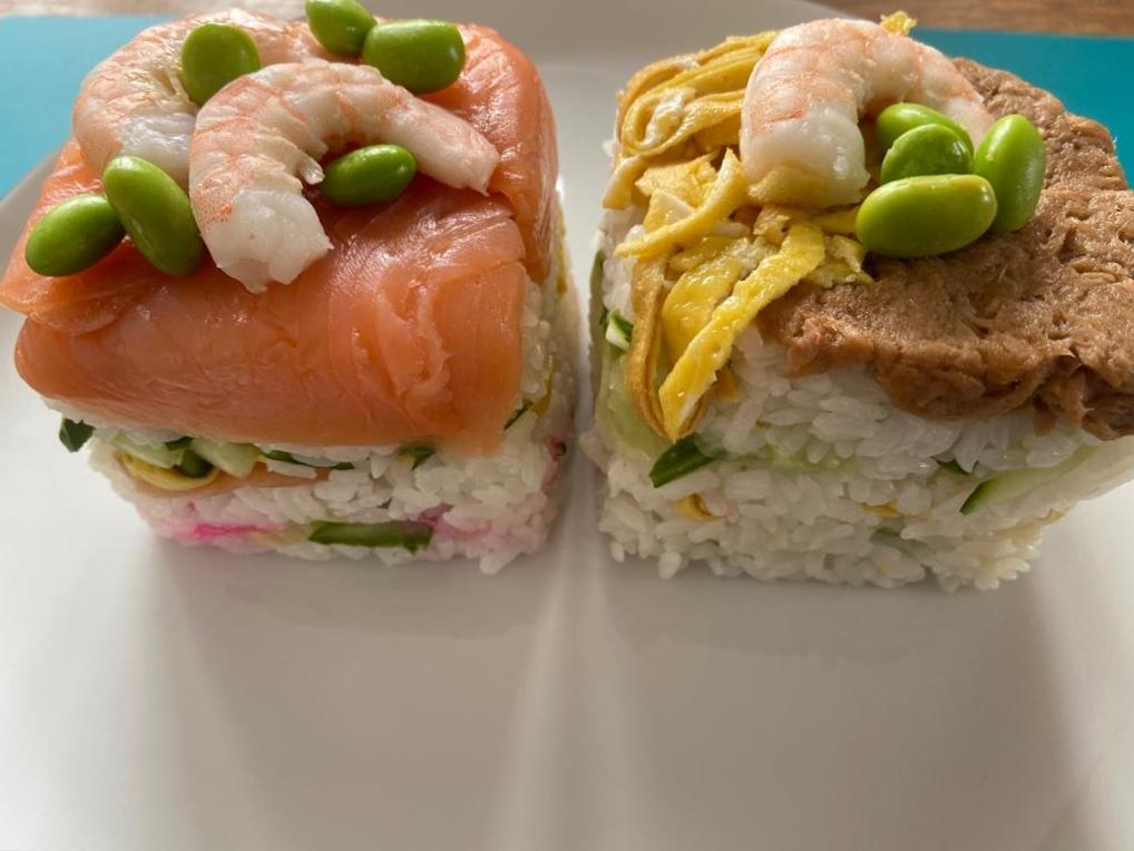 Oshisushi (Gepresstes Sushi)